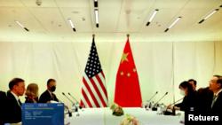 Cuộc họp của Cố vấn an ninh quốc gia Mỹ Jake Sullivan với nhà ngoại giao hàng đầu Trung Quốc Dương Khiết Trì tại Thụy Sĩ ngày 6/10/2021.