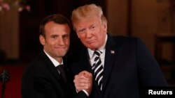 Macron da Trump