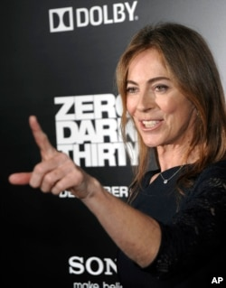 "Director Kathryn Bigelow arrives at the premiere of the feature film ""Zero Dark Thirty"" at the Dolby Theatre in Los Angeles in 2012."