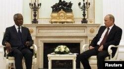 Кофи Аннан и Владимир Путин