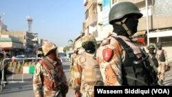 کراچی میں رینجرز کے اہلکار