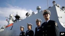 中国海军舰艇去年访问圣迭戈(2016年12月7日)