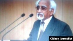 Farfasa Muhammad Hamid Ansari, mataimakin shugaban kasar Indiya