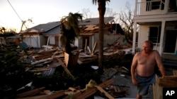 Residente de Mexico Beach após a destruição do furacão Michael
