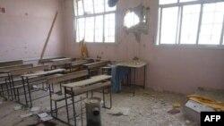 Posledice bombardovanja u jednoj školi u Siriji