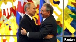 Kuba rahbari Raul Kastro bilan, Gavana, 11-iyul, 2014
