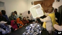 Vote counting during the recent southern Sudan referendum