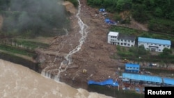 Tanah longsor di Sanming, provinsi Fujian, China. (Foto: Dok)