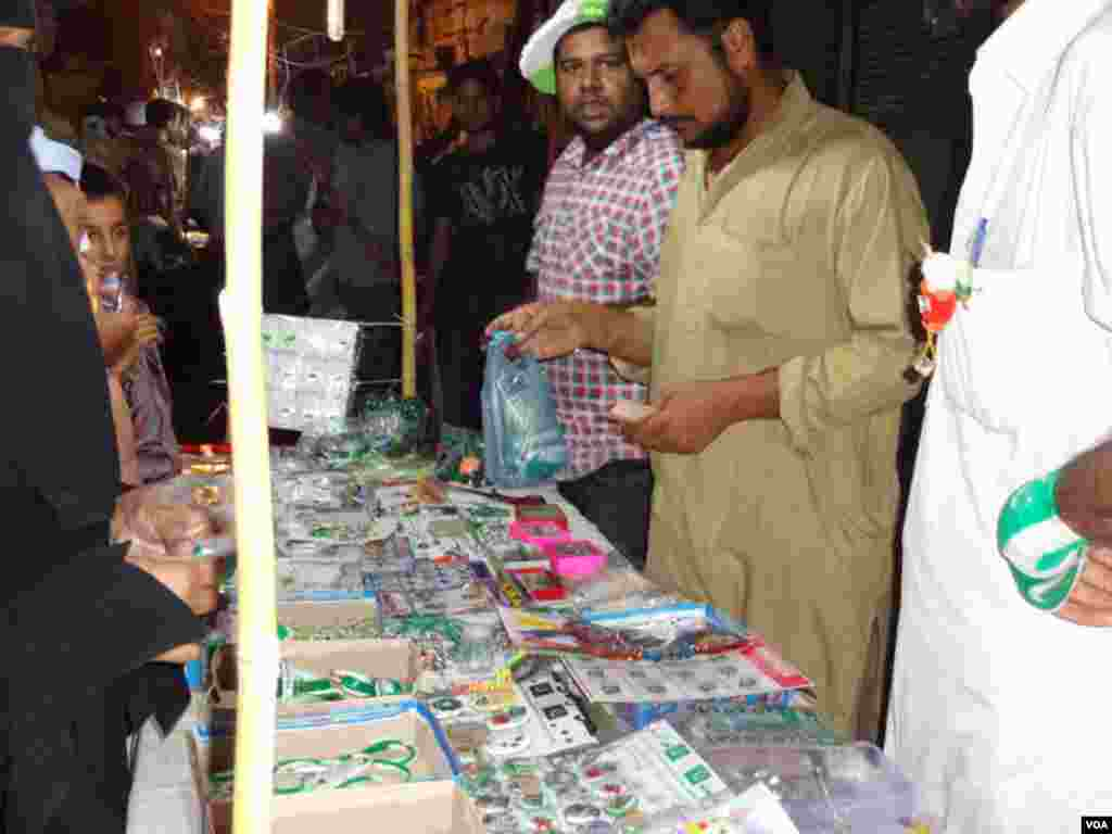 Shopkeepers selling Badges