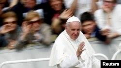 Папа римский Франциск. Ватикан. 3 апреля 2016 г.