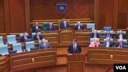 Presidenti Bamir Topi, në Parlamentin e Kosovës