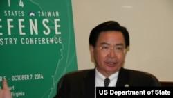 台灣民進黨秘書長兼駐美代表吳釗燮(資料圖片﹐美國之音鍾辰芳拍攝)