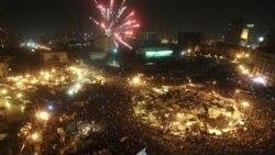 جشن گرفتن مردم مصر برای استعفای مبارک