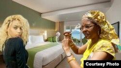 Unkosikazi Grace Mugabe etshaya uGabrielle Angels. (Umfanekiso Wokuzibazela)