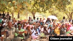 Maleme villagers congregating over the take over of Maleme Farm in Matabeleland South.