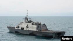 """美國""""沃斯堡""""號(USS Fort Worth)濱海戰鬥艦。"""