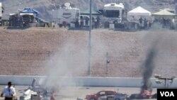 Quince coches estuvieron involucrados en el accidente que le costó la vida al piloto británico Dan Wheldon, doble ganador de las 500 Millas de Indianápolis.