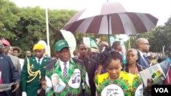 UMnu. Emmerson Mnangagwa emhlanganweni weZanu PF Congress