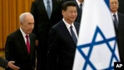 中国国家主席习近平和以色列前总统佩雷斯