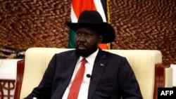 Salva Kiir à Khartoum le 21 septembre 2018.