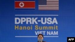 越南河內有關美朝峰會的廣告牌