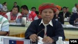 Một đại biểu tham dự hội nghị các nhóm thiểu số Miến Điện tại trụ sở KIO ở Laiza
