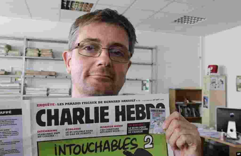 """Stefan Sharbonniyer, """"Charlie Hebdo"""" satirik gazetasi bosh muharriri bugungi hujumda o'ldirilgan."""