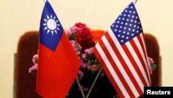 미국과 타이완의 국기.