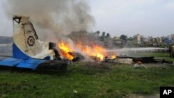 Авария самолета в Непале