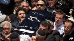 지난 2011년 5월 예루살렘에서 알카에다 테러 공격으로 사망한 이스라엘인의 장례식이 열렸다. (자료사진)