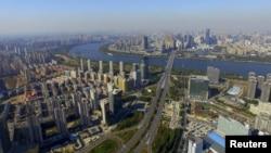 俯瞰沈阳市区