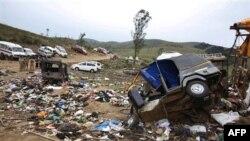Quang cảnh hiện trường sau vụ giẫm đạp ở Pullumedu, cách Kochi khoảng 200 kilometer, ngày 15 tháng 1, 2011