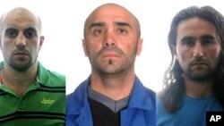 Фотографии арестованных в Испании лиц