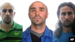 在星期四由西班牙內政部公佈的這張未註明日期的照片中三名基地組織嫌疑人