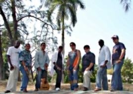 The band, Septeto Tipico Tivoli - a group of Cuban musicians - is touring schools in Vermont.