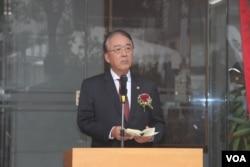 日本台灣交流協會台北事務所代表沼田幹夫(美國之音楊明拍攝)