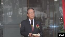 日本台湾交流协会台北事务所代表沼田干夫(美国之音杨明拍摄)