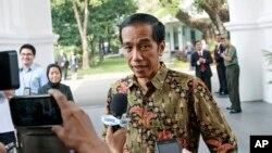 Presiden Joko Widodo di Istana Merdeka, Jakarta.
