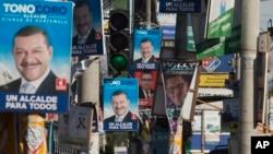 선거 벽보로 뒤덮인 과테말라 시내 (자료사진)