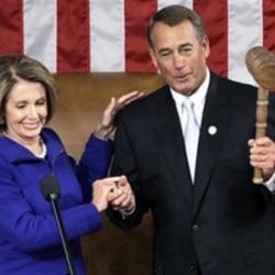 House Speaker John Boehner and outgoing Speaker Nancy Pelosi