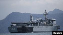 Tàu hải quân Malaysia.