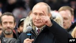 Le président russe Vladimir Poutine, à Moscou, le 03 mars 2018.