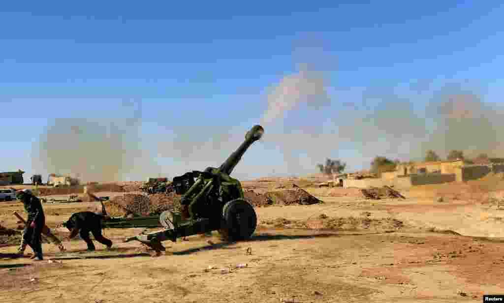 حمله ارتش عراق به داعش در نزدیکی موصل.