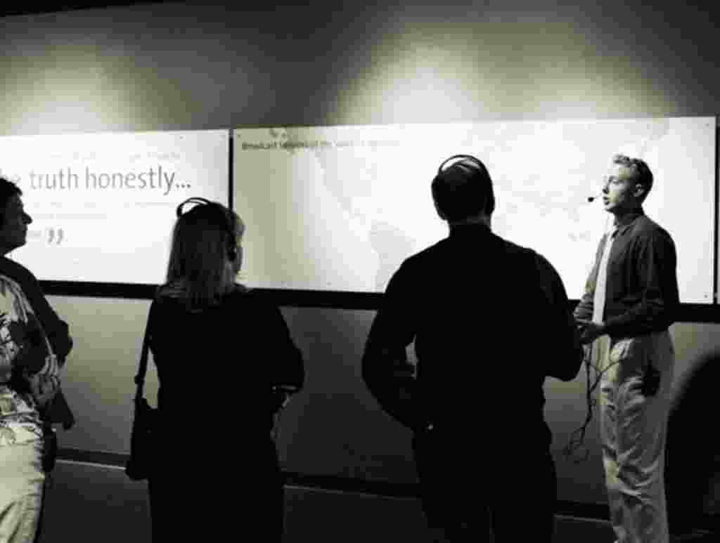 Multimedia tours take you throughout VOA's studios. (A. Klein photo)