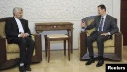 Said Jaliliy prezident Bashar al-Assad bilan ko'rishar ekan, xorijiy raqiblar bosimiga qarshi tura olgan ittifoqchi davlatni olqishladi.