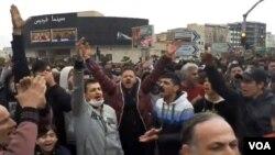 تصاویر مربوط به اعتراضات مردمی در فردیس، کرج