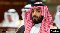 모하마드 빈살만 사우디 아라비아 왕세자가 지난 19일 리야다에서 열린 슈라위원회 회의에 참석했다.
