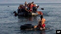 Imigranti iz Sirije i Avganistana kod grčkog ostrva Lezbos, 27. jul 2015.