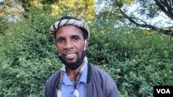 UMnu. Mqondisi Moyo, umkhokheli webandla leMthwakazi Republic Party, uthi kabaleki eZimbabwe. (Photo: Ezra Tshisa Sibanda)