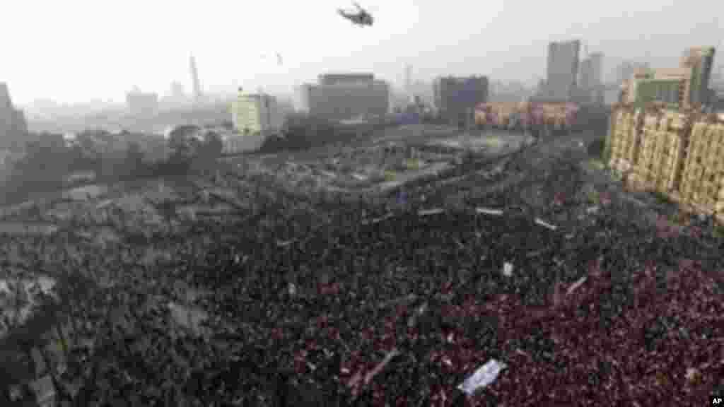 تظاهرات هواداران ژنرال عبدالفتاح السیسی در میدان تحریر - قاهره، ۲۶ ژانویه ۲۰۱۴